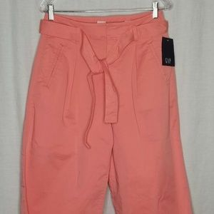 NEW GAP Pink High Rise Wide Leg Crop Pants 6 NWT
